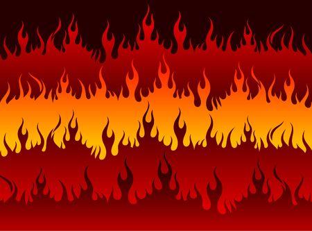 Fire in Hell Original Vector Illustration Stock fotó
