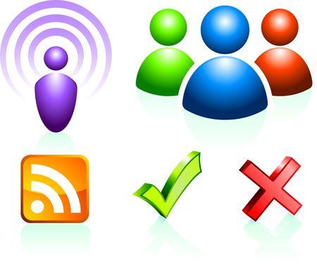 Internet-pictogrammen Originele vectorillustratie Eenvoudige afbeelding illustratie