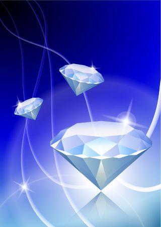 Diamond on Abstract Light BackgroundOriginal Vector Illustration