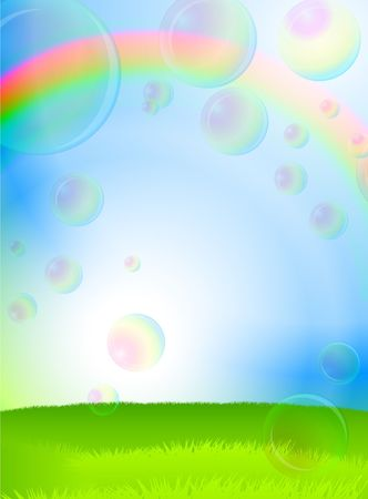 Soap Bubbles Original vector illustration EPS10