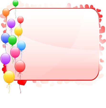 Balloon Frame Background Original Vector Illustration Simple Image Illustration illustration