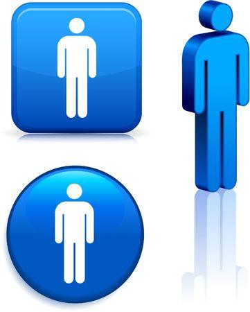 Male Stick FigureOriginal Vector IllustrationSimple Image Illustration Stock Illustration - 6522861