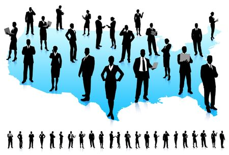 Business People Silhouette Unique high-detailed silhouettes featuring beautiful sexy models  File is easy to manage  photo