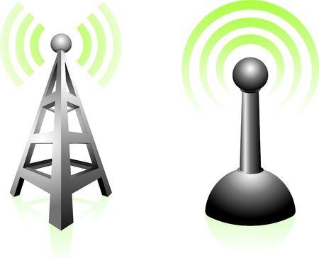 Signaaloverdracht Originele vectorillustratie Eenvoudige afbeelding afbeelding Stockfoto