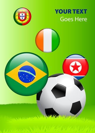 2010 Group G World Cup Original Vector Illustration AI8 Compatible illustration