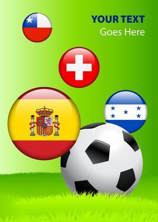 2010 Group H World Cup Original Vector Illustration AI8 Compatible