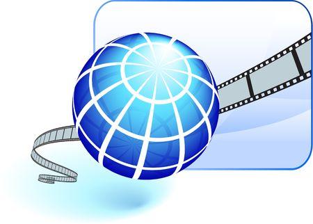 film strip on white background photo
