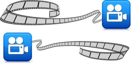 film strip on white background Stock Photo - 6555000