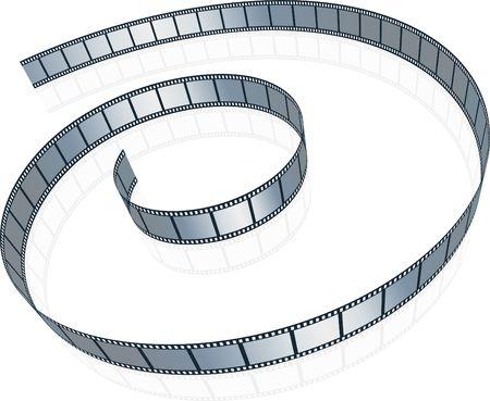film industry: film strip on white background