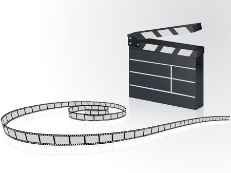 directing: Film strip background