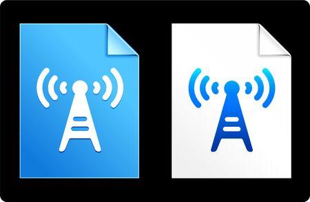 Radio tower op papier set Originele vectorillustratie AI 8 compatibele bestand