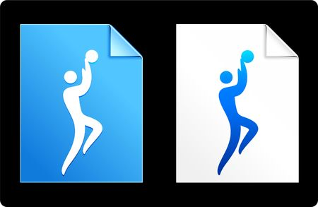 compatible: Basketball on Paper Set Original Vector Illustration AI 8 Compatible File