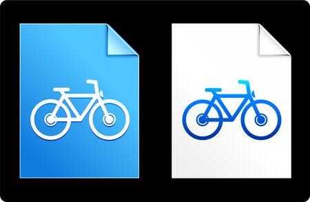compatible: Bicycle on Paper Set Original Vector Illustration AI 8 Compatible File