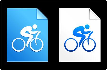 Cyclist on Paper Set Original Vector Illustration AI 8 Compatible File  illustration