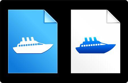 Cruise on Paper Set Original Vector Illustration AI 8 Compatible File  illustration