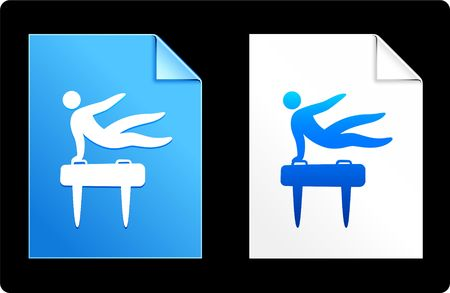 pommel: Pommel Horse on Paper Set Original Vector Illustration AI 8 Compatible File
