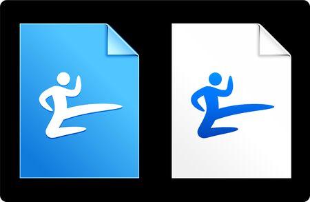 Karate on Paper Set Original Vector Illustration AI 8 Compatible File  illustration