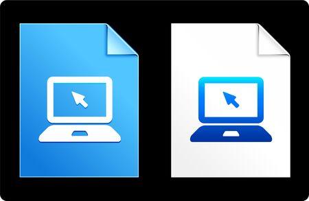 mousepad: computer laptop on Paper Set Original Vector Illustration AI 8 Compatible File