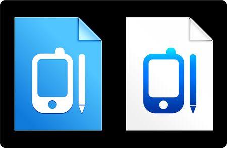 Organizer on Paper SetOriginal Vector IllustrationAI 8 Compatible File Stock Illustration - 6523087