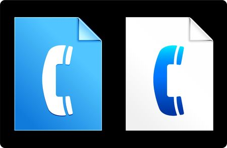 Phone on Paper SetOriginal Vector IllustrationAI 8 Compatible File Stock Illustration - 6523059
