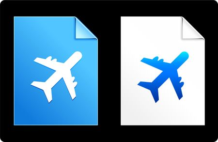 Airplane on Paper Set Original Vector Illustration AI 8 Compatible File  illustration