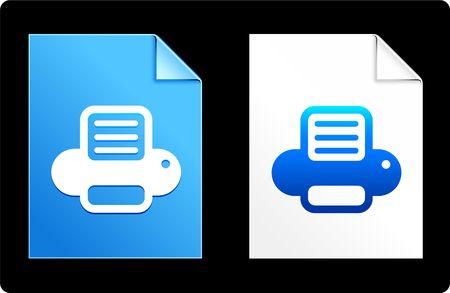 Drucker auf Papier-SatzOriginal-Vektor-IllustrationAI 8 kompatible Datei Standard-Bild - 6523097