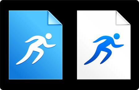 Running on Paper Set Original Vector Illustration AI 8 Compatible File 版權商用圖片