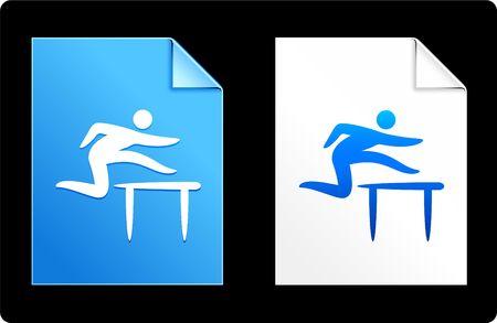 hurdles: Hurdles on Paper Set Original Vector Illustration AI 8 Compatible File