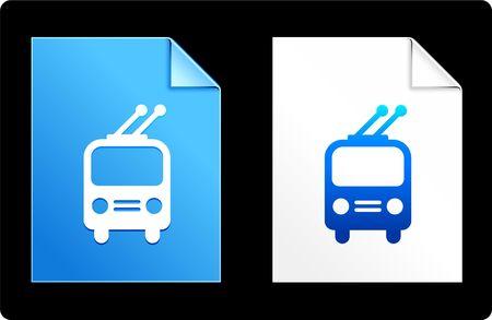 Trolley on Paper Set Original Vector Illustration AI 8 Compatible File  illustration