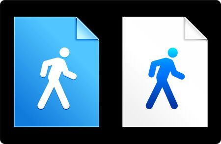 Walk on Paper Set Original Vector Illustration AI 8 Compatible File  Imagens