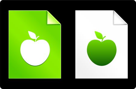 recourses: Apple on Paper Set Original Vector Illustration AI 8 Compatible File  Stock Photo