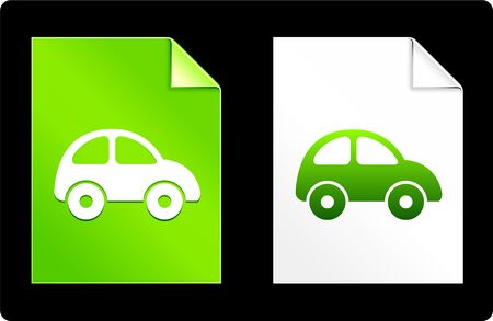 recourses: Car on Paper Set Original Vector Illustration AI 8 Compatible File