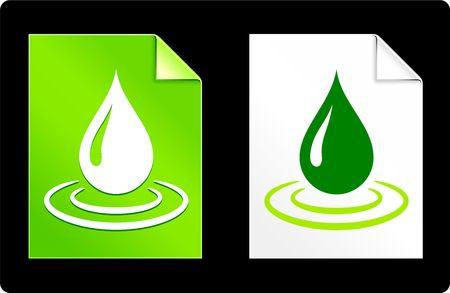 Rain Drop on Paper SetOriginal Vector IllustrationAI 8 Compatible File Stock Illustration - 6523082