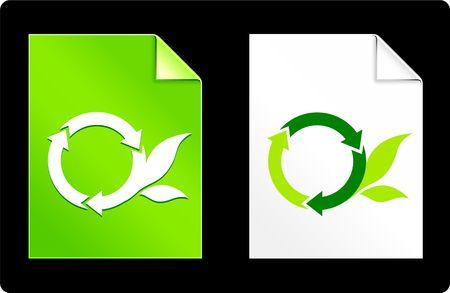 recourses: Simbolo di ricicla rotonda sul libro set Illustrazione vettoriale originale 8 AI file compatibile  Archivio Fotografico