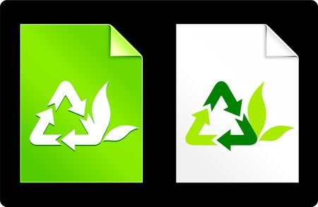 recourses: Recycle Symbol on Paper Set Original Vector Illustration AI 8 Compatible File  Stock Photo