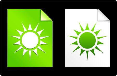 Sun on Paper SetOriginal Vector IllustrationAI 8 Compatible File Stock Illustration - 6523099