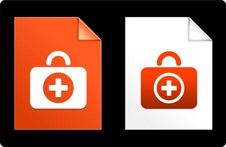 First Aid Kit on Paper Set Original Vector Illustration AI 8 Compatible File  Zdjęcie Seryjne