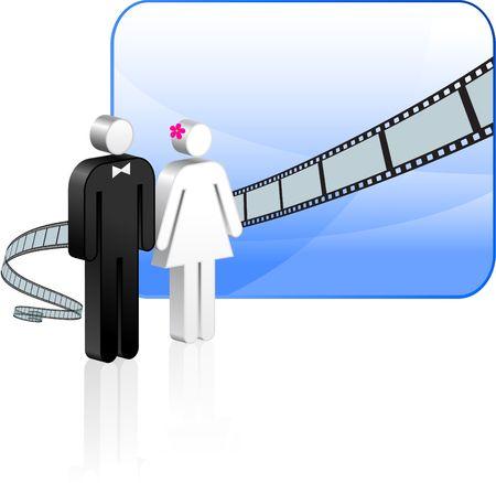 film industry: Film strip background