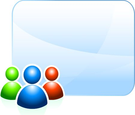 chat room: User group background with empty frame