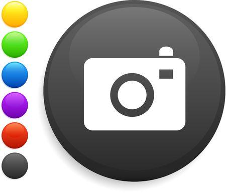 camera icon on round internet button Stock Photo - 6555226