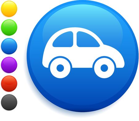 car icon on round internet button photo