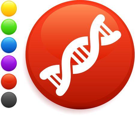 DNA icon on round internet button