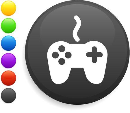 remote controller icon on round internet button photo