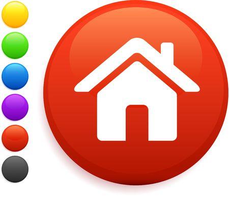 home icon: house icon on round internet button