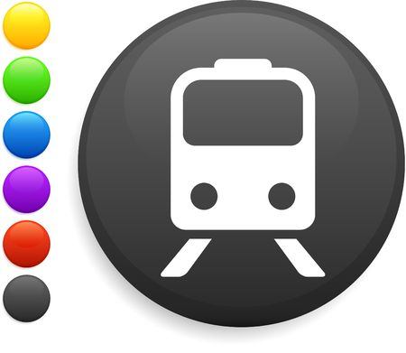 subway icon on round internet button original vector illustration 6 color versions included  illustration