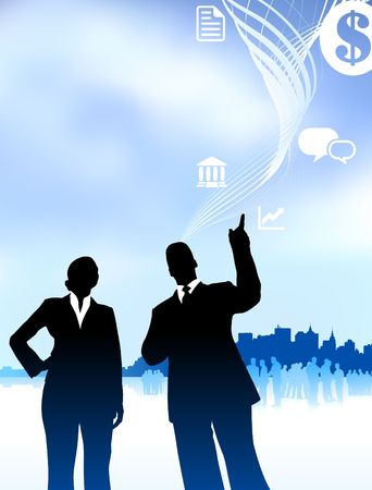Original Vector Illustration: businessman and businesswomanAI8 compatible Stock Illustration - 6572378