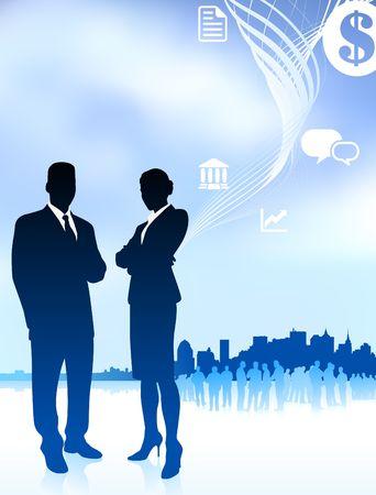 Original Vector Illustration: businessman and businesswomanAI8 compatible Stock Illustration - 6572555