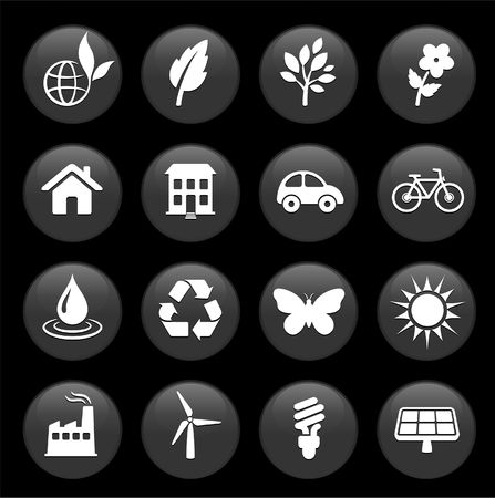 Original vector illustration: environment elements icon set Stock Illustration - 6572107