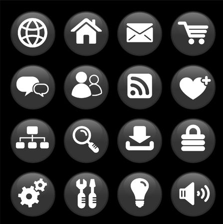 Original vector illustration: internet design icon set illustration