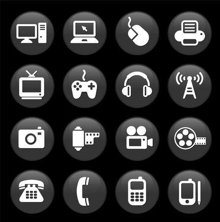 Originele vector illustratie: technologie en communicatie ontwerp elementen